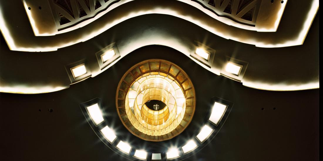 Plafond de la salle Henry Le Boeuf