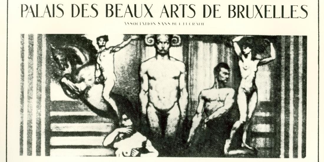 Affiche de l'inauguration des salles de sculpture mai-juin 1928