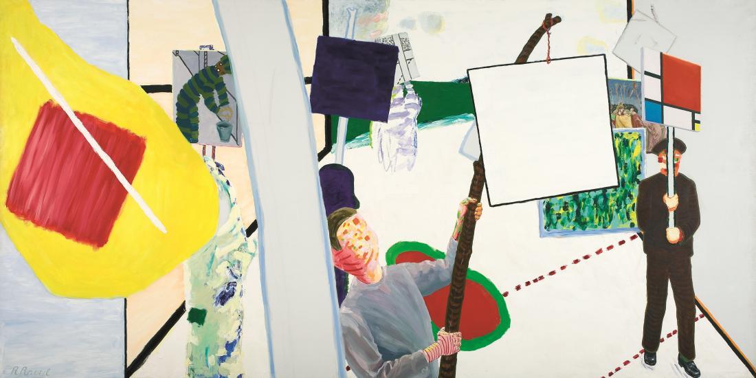 Roger Raveel, Schilderijenoptocht