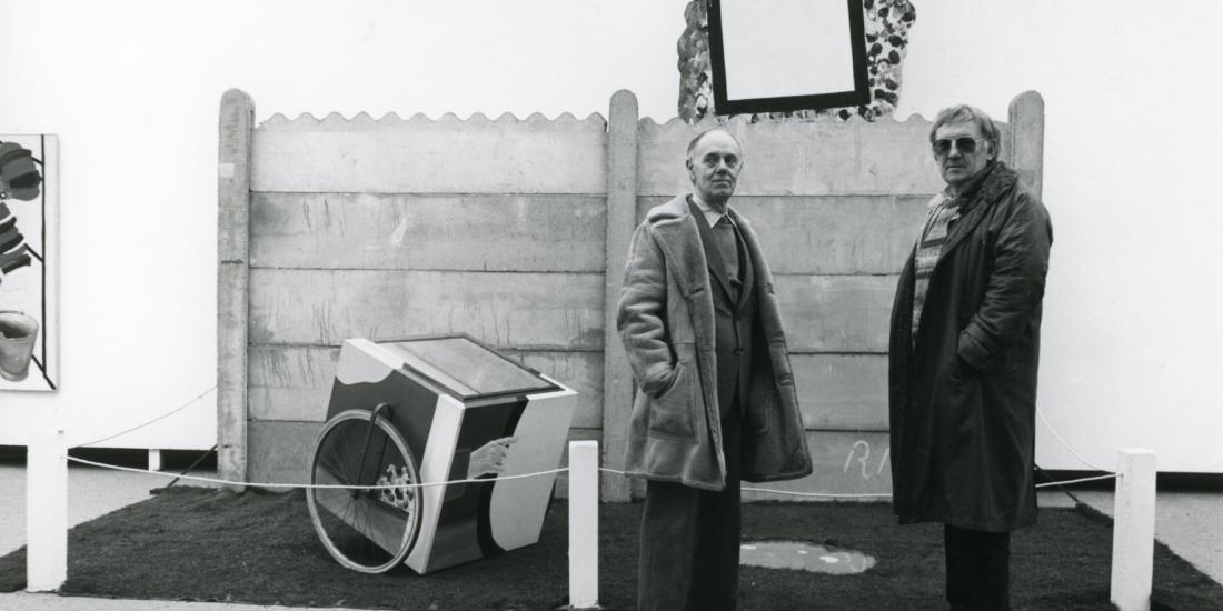 Roger Raveel and Hugo Claus at the Centre for Fine Arts in 1983