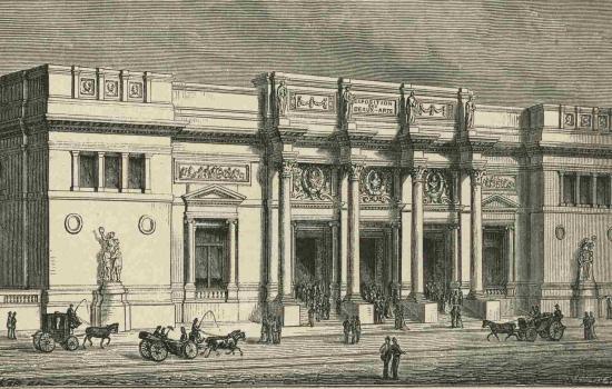V. De Doncker - Gravure du Palais des Beaux-Arts d'Alphonse Balat - Musées Royaux des Beaux-Arts