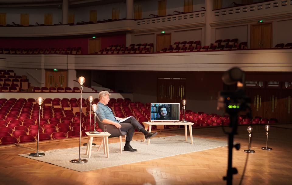 Author Mazen Maarouf in conversation with Chris Keulemans