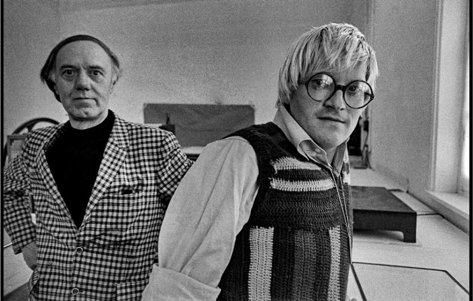 Roger Raveel en David Hockney, 1973