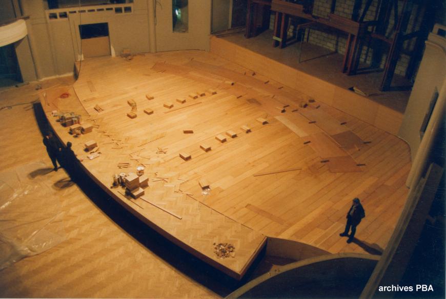 Reconstruction de la scène en bois