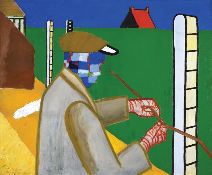 Roger Raveel, Man with Wire in Garden, 1952–53