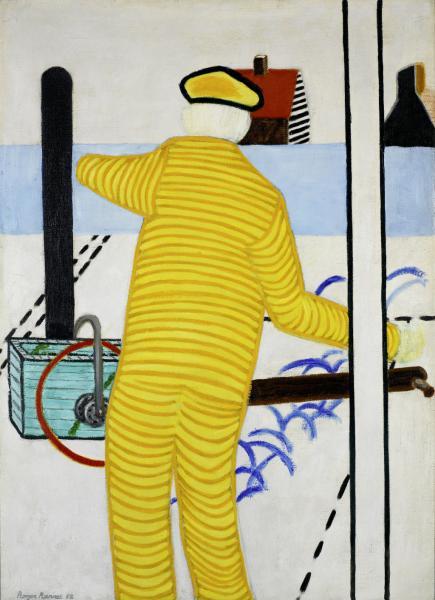 Roger Raveel, Yellow Man with Cart, 1952