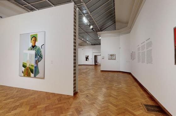 Vue de l'exposition Roger Raveel